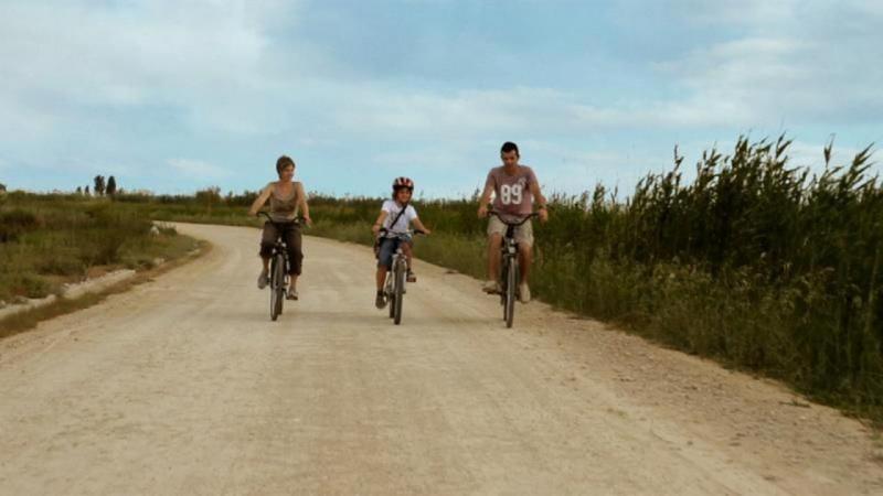 Route des lagunes du delta de l'Èbre à vélo
